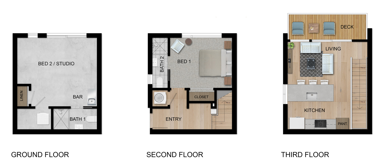 Awe Inspiring 3 Story 2 Bed Loft For Sale The Walk On Bainbridge Island Interior Design Ideas Helimdqseriescom